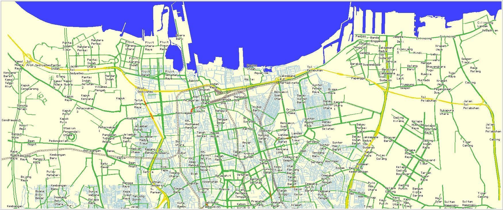 Jakarta map - Peta Jakarta utara (Jawa - Indonesia)