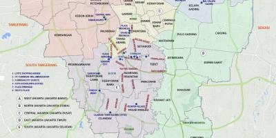 Jakarta barat peta - Peta Jakarta barat (Jawa - Indonesia)